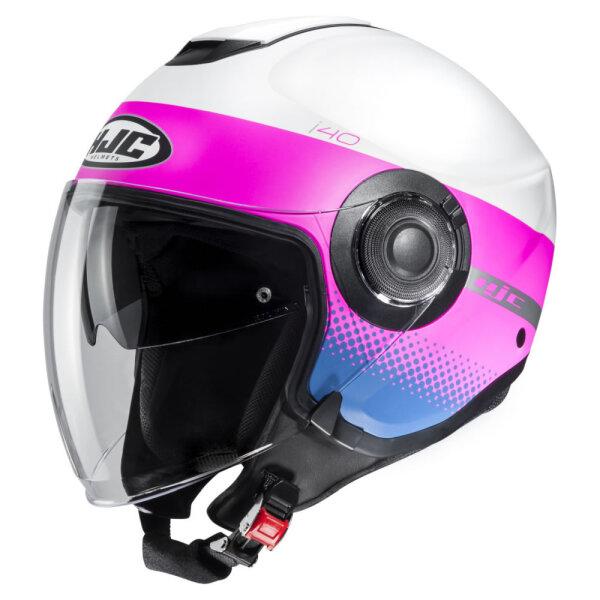 Weiß/Pink/Blau